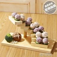 壽司碟 旋轉步步高升木質樓梯餐具盤子壽司點心糕點架 第六空間