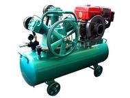 標準情人全新台灣製高品質12HP電動啟動柴油引擎5HP機身引擎式空壓機儲氣桶155L