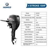 HIDEA HDF15 2 Cylinder 15hp 4 Stroke Manual&Electric start short/long shaft Outboard Motor Outboard Engine