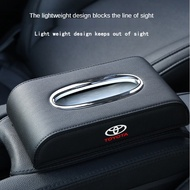 Toyota Leather Car Tissue BoxSuitable for Wish Sienta Hiace Estima Chr Vios AltisCamry Corolla【ximall】car accessories