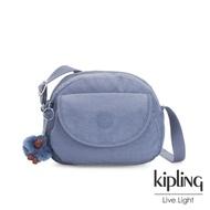 Kipling 氣質粉嫩藍翻蓋側背小包-STELMA