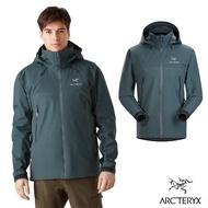 【Arcteryx 始祖鳥】男 Beta AR 輕量透氣 防水外套(灰綠)