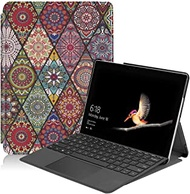 Surface Go 2 2020 Case, Gylint Slim Fit Leather Smart Case Cover with Pencel Holder for Microsoft Surface Go 2 2020 / Surface Go 2018 Mandala