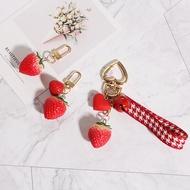 可爱少女心仿真食玩小草莓烤红薯钥匙扣AirPods挂件情侣汽车钥匙