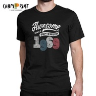 Men T Shirt Awesome Since September 1969 Vintage 50 Years Old 50Th Gift