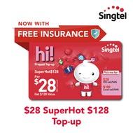 Singtel $28 SuperHot$128 Top-up