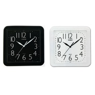 (casio) Clear Digital Collection Square Wall Clock Streamline Generous Analog Square Wall Clock Room Essential Iq - 02 S