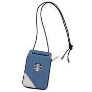 星巴克 限量 Starbucks 丹寧拼接證件錢包