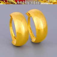 Gold earrings Glossy earrings Women's 916 gold earrings