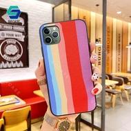 สำหรับ Apple iPhone 11 iPhone 11 Pro iPhone 11 Pro Max แฟชั่น Rainbow เคสมือถือไล่สีหรูหราสีสัน Candy Soft ซิลิโคนกันกระแทกปกหลัง