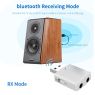【Flash Deal】 USB bluetooth 5.0 Transmitter Receiver Stereo Audio Adapter AUX 3.5mm TV CAR PC