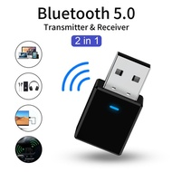 Bluetooth 5.0 Receiver Transmitter Stereo Bluetooth AUX RCA USB 3.5mm Jack Audio For TV PC Car Kit W