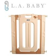【L.A. Baby】雙向自動上鎖安全門欄/圍欄/柵欄純白/米黃色(贈兩片延伸件/米黃色)
