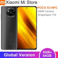 Global Version Xiaomi POCO X3 NFCสมาร์ทโฟน6GB RAM 64GB ROM Snapdragon 732G Octa Core 64MP 5160MAh 33วัตต์