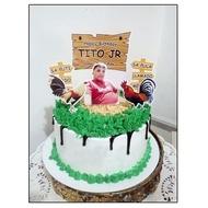 Rooster Meron o Wala Theme Cake Topper