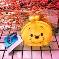 《現貨》DISNEY 迪士尼 WINNIE THE POOH 小熊維尼 口愛造型 黃色口金包 零錢包