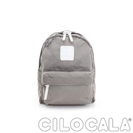 【CILOCALA】亮彩尼龍防潑水後背包-小包(灰色)