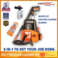 APACHE HV4213 [3-in-1] TurboSpray® 130 Bar High Pressure Water Jet Cleaner | Wet & Dry Vacuum Cleaner | Blower & Dryer |