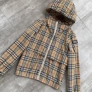 小可  現貨BURBERRY\/博柏利\/巴寶莉防曬衣服襯女士格子連帽輕薄外套戶外風衣