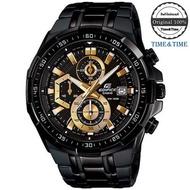Time&Time CASIO Edifice นาฬิกาข้อมือผู้ชาย สีดำ/ทอง สายสแตนเลส รุ่น EFR-539BK-1AVUDF (CMG)