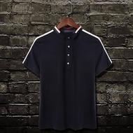 FINDSENSE MD 韓國 潮 男 時尚 翻領 口袋 拼色 素面POLO衫 短袖POLO衫 短袖T恤