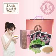 【醫院專櫃品牌 真食補】無薑鱸魚精5入禮盒組(加量升級 70ml/入)