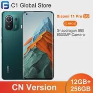 "Original Xiaomi Mi 11 Pro สมาร์ทโฟน5G NFC 12GB 256GB Snapdragon 888 Octa Core 6.81 ""120hz AMOLED E4หน้าจอ67W Fast Charger"