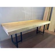 原木索羅門檜木一枚板餐桌 (含桌腳) 實木家具洽談桌 吧台桌 會議桌咖啡桌 觀景桌 戶外桌 A3952【晶選二手傢俱】