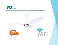 PO ECO 43  CEILING FANS With Smart Wifi & LED Light With Dimmer