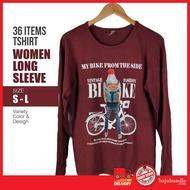T Shirt Lengan Panjang Bundle Perempuan (Size S-L) Baju Lengan Panjang Bundle Perempuan T-Shirt Long Sleeve Bundle Murah