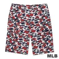MLB-紐約洋基隊休閒迷彩短褲-深紅(男)