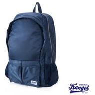 KANGOL 英式輕時尚休閒13吋筆電防潑水尼龍後背包-寶藍色KG1115
