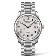 LONGINES 浪琴錶 L27934786巨擘經典優雅機械腕錶/白網紋面40mm