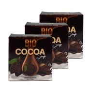 Bio Cocoa Soap สบู่ไบโอ โกโก้ สบู่ผิวหน้า 40 g. (3 ก้อน)