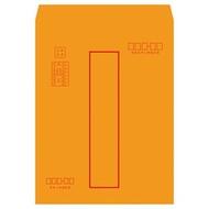【1768購物網】N1304  美加美 大4K(B4)紅框資料袋  金黃公文封 (博崴) 黃牛皮公文袋 100入/包  整包出貨