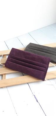 暈染紫立體棉布口罩套 適用醫療口罩 純棉 可以寄出國