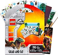Dinosaurs Lego Jurassic World Stickers Party Supplies Bundle ~ 6 Lego Jurassic Park Party Favors Sheets with Bonus Bookmark (190 Stickers)