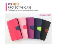 【My Style】ASUS ZenFone 3 5.5吋 ZE552KL 側掀撞色皮套 書本式皮套 側翻保護套 手機套 保護套