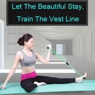 แถบยางยืดโยคะเชือกยางแขนออกกำลังกายแบบใช้แรงต้านการออกกำลังกายพิลาทิสโยคะ Gym