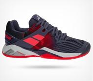 【H.Y SPORT】BABOLAT Propulse Fury Clay 31S17554 女網球鞋 紫粉 紅土場/網球