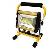 充電式 100WLED手提燈 附6顆電池 投光燈 手提燈 露營燈 停電燈 烤肉燈 5730 探照燈 頭燈 投射燈