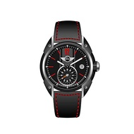【Mini Cooper】經典時尚潮紅縫線石英腕錶-質感黑/MINI-66E/台灣總代理公司貨享兩年保固