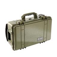 【美國 PELICAN】1510 氣密箱 登機箱 含輪座(綠色)
