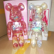 【Quality Edition】Bearbrick - X-Girl & Project Ver. Gear Joint 400% 28cm High Quality Anime Action Figures / Toy / GK / Collection / Gift