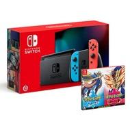 任天堂 Nintendo Switch新型電力加強版主機(可選色) + 寶可夢 劍+盾 同捆組