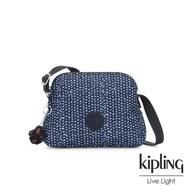 【KIPLING】星光雪花綻藍隨身斜背包-DIEP