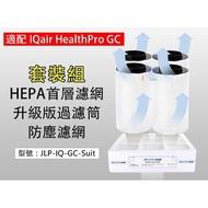 除甲醛 HEPA前置濾網+(四入裝)過濾筒+防塵濾網 適配IQair GC清淨機 JLP-IQ-GC-Suit