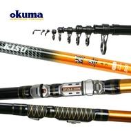 [新竹民揚釣具] OKUMA 開喜 小繼竿 8尺 / 9尺 -- 沙梭 海釣場 虱目魚 免運