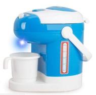 ของเล่นเด็กเล่นสีฟ้าชุดครัวขนาดเล็กทำอาหารของเล่นอิเล็กทรอนิกส์จำลองตู้เย็นกาแฟเครื่องของเล่นเด็ก
