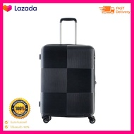 CAGGIONIกระเป๋าเดินทางชนิดแข็ง 4 ล้อ สีดำ ขนาด 24 นิ้ว จำนวนจำกัด